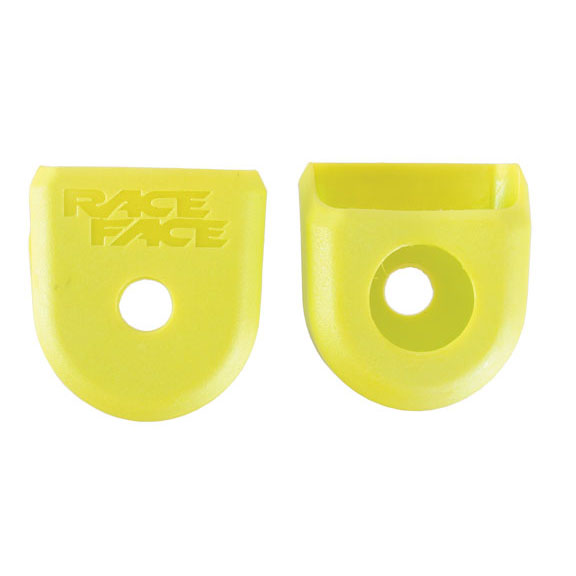 For Alloy Crank Boots 2-Pack Yellow RaceFace Crank Boots: For Alloy Cranks