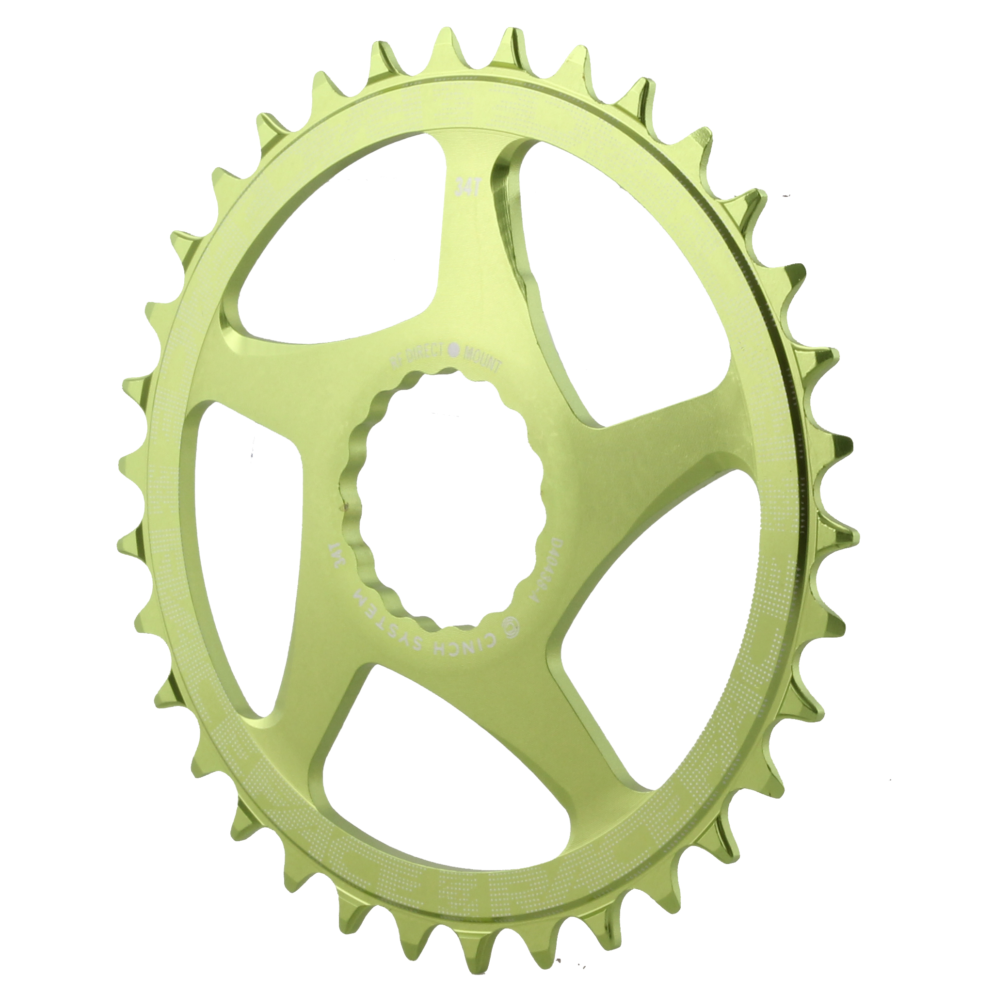 RaceFace Narrow-Wide Chainring Direct Mount Cinch 36t Green